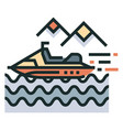 water activity line color icon vector image