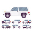 white offroad set vector image vector image