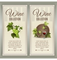 Wine vertical banners set vector image