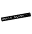 World Security rubber stamp vector image vector image