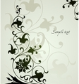 Beautiful floral green background vector image