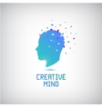 creative mind logo head silhouette with vector image