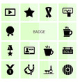 14 badge icons vector image vector image