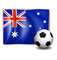 A ball and the Australian flag vector image vector image