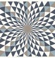 abstract geo pattern diamond shapes in vortex vector image