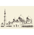 abu dhabi main mosque sheikh zayed mosque drawn vector image vector image