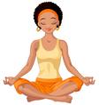 African American Yogi Girl vector image