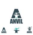 anvil letter based a vector image