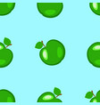 apples fruits seamless pattern green elements vector image vector image