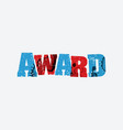 award concept stamped word art vector image vector image