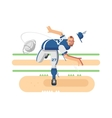 Baseball player character vector image vector image