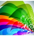 beautiful multicolor background vector image