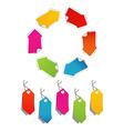 Blank color ribbon arrows design element vector image vector image
