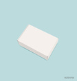 Blank white box mock up on blue background vector image vector image