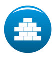 brick wall icon blue vector image