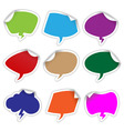 bubble stickers vector image
