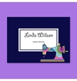 Business card for seamstress vector image vector image