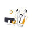 business success goal achievement concept vector image