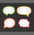 cartoon bubble speech - dialog messages vector image vector image