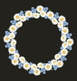 chamomile and forget me-not-flowers pattern vector image vector image