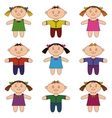children boys and girls set vector image vector image