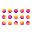 circle icons for social media stories highlights vector image