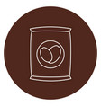 coffee sack isolated icon vector image