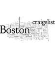 craigslist boston vector image vector image