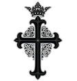 crowned cross vector image vector image