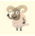 cute cartoon sheep mascot vector image vector image