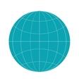 earth globe diagram icon vector image vector image