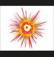 explosion cartoon bang an abstract design vector image