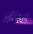 firework show banner vector image