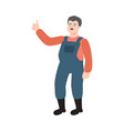flat farmer man in professional uniform vector image