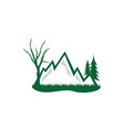 forest and mountain grapic design template logo vector image