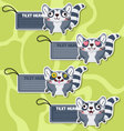 Four cute cartoon Raccoons stickers vector image vector image