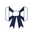 gift bow with ribbon icon vector image vector image