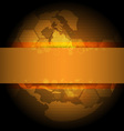 golden global background design vector image vector image