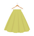 green skirt template design fashion woman women vector image vector image
