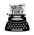 hand drawn style retro typewriter textured vector image vector image