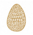 happy easter typography design elements vector image