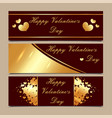 happy valentine s day luxury gold and maroon vector image vector image
