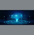 hologram auto futuristic polygonal model auto vector image vector image