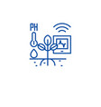 horticulture automation line icon concept vector image vector image