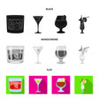 isolated object liquor and restaurant icon vector image vector image