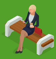 isometric business woman in corporate clothing vector image vector image