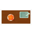 kitchen sink icon cartoon style vector image