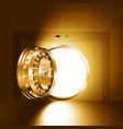 light open door safe gold vector image vector image
