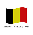 made in belgium vector image