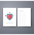Modern web and online shopping security flat icon vector image vector image